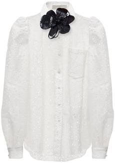 Elie Saab Cotton Blend Embroidered Shirt