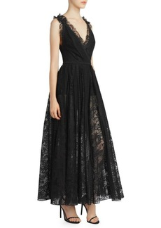 Elie Saab Deep-V Lace Gown