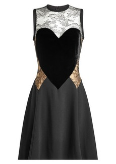 Elie Saab Dress with Lace and Velvet