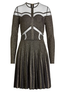 Elie Saab Dress with Sheer Panels and Pleated Skirt