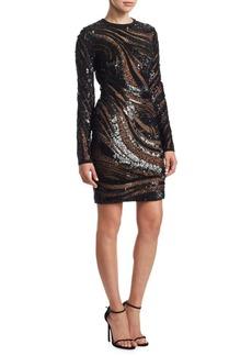 Elie Saab Beaded Sequin Dress