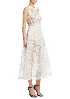Elie Saab Embroidered A-Line Dress