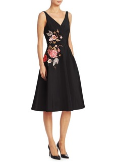 Elie Saab Embroidered Fit-and-Flare Dress