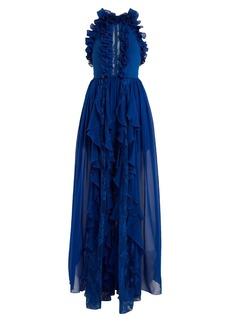 Elie Saab Halterneck ruffle gown