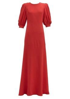Elie Saab Open-back crepe gown