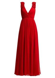 Elie Saab Pleated silk-crepe gown