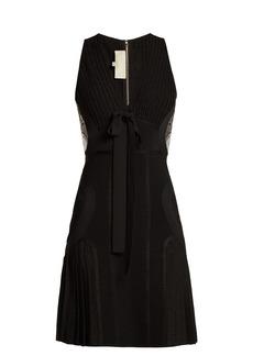 Elie Saab Ribbed-knit pleated mini dress