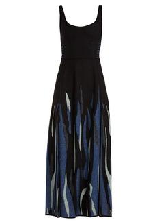 Elie Saab Scoop-neck jacquard-knit dress
