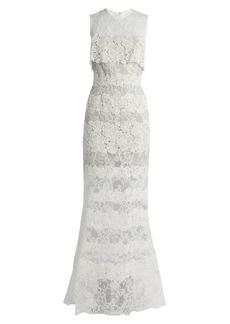 Elie Saab Sleeveless macramé-lace gown