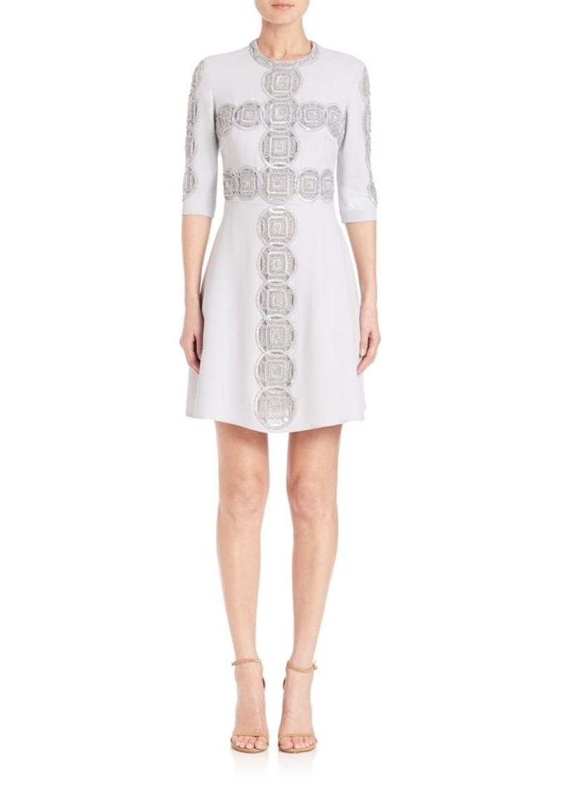 Elie Saab Elie Saab Three-Fourth Sleeve Cady Dress | Dresses