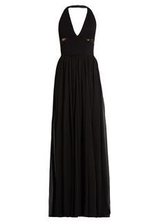 Elie Saab V-neck lace-panelled gown