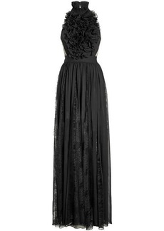 Elie Saab Floor Length Gown with Silk and Lace