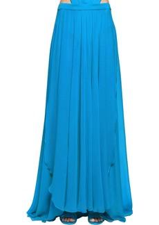 Elie Saab Lvr Edition Crepe Georgette Long Skirt