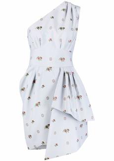 Elie Saab one-shoulder floral-jacquard dress