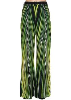 Elie Saab Printed Crepe Cady Wide Leg Pants
