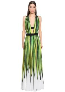 Elie Saab Printed Double Georgette Dress