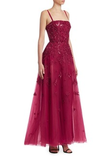 Elie Saab Sequin Tulle Gown