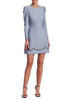 Elie Saab Short Studded A-Line Dress
