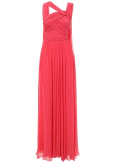 Elie Saab Silk Chiffon Long Draped Dress