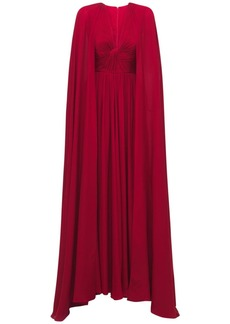 Elie Saab Silk Long Dress