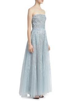 Elie Saab Strapless Sequin Gown