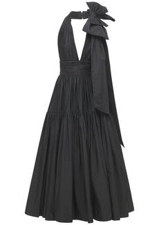 Elie Saab Taffeta Long Dress W/ Knot Detail