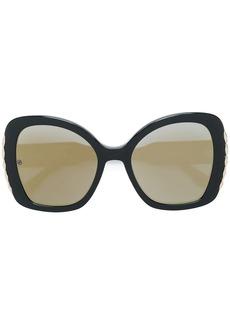 Elie Saab trim detail oversized sunglasses