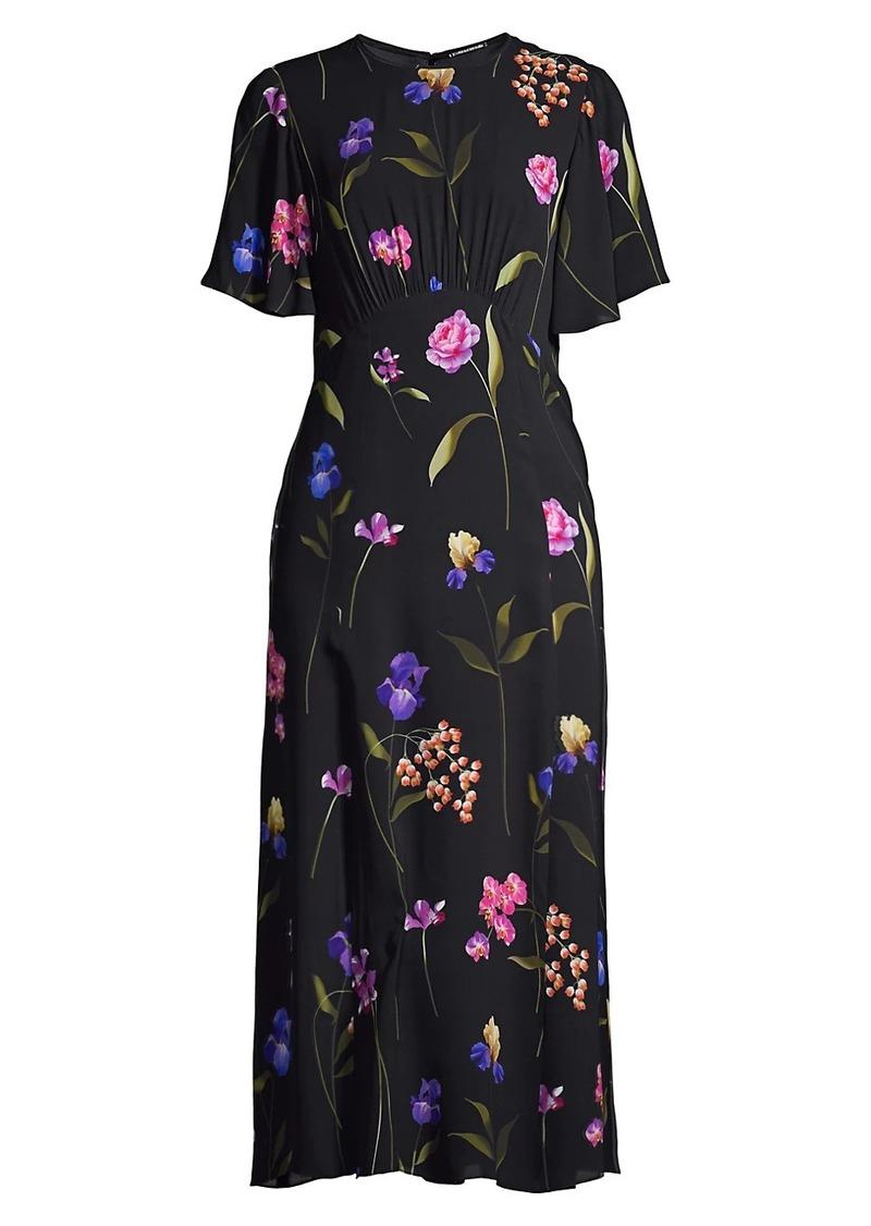 Elie Tahari Ada Floral Georgette Dress