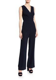Elie Tahari Adaline V-Neck Sleeveless Jumpsuit