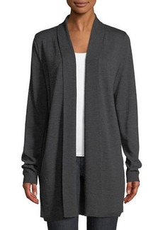 Elie Tahari Adele Shawl-Collar Merino & Silk Cardigan Sweater