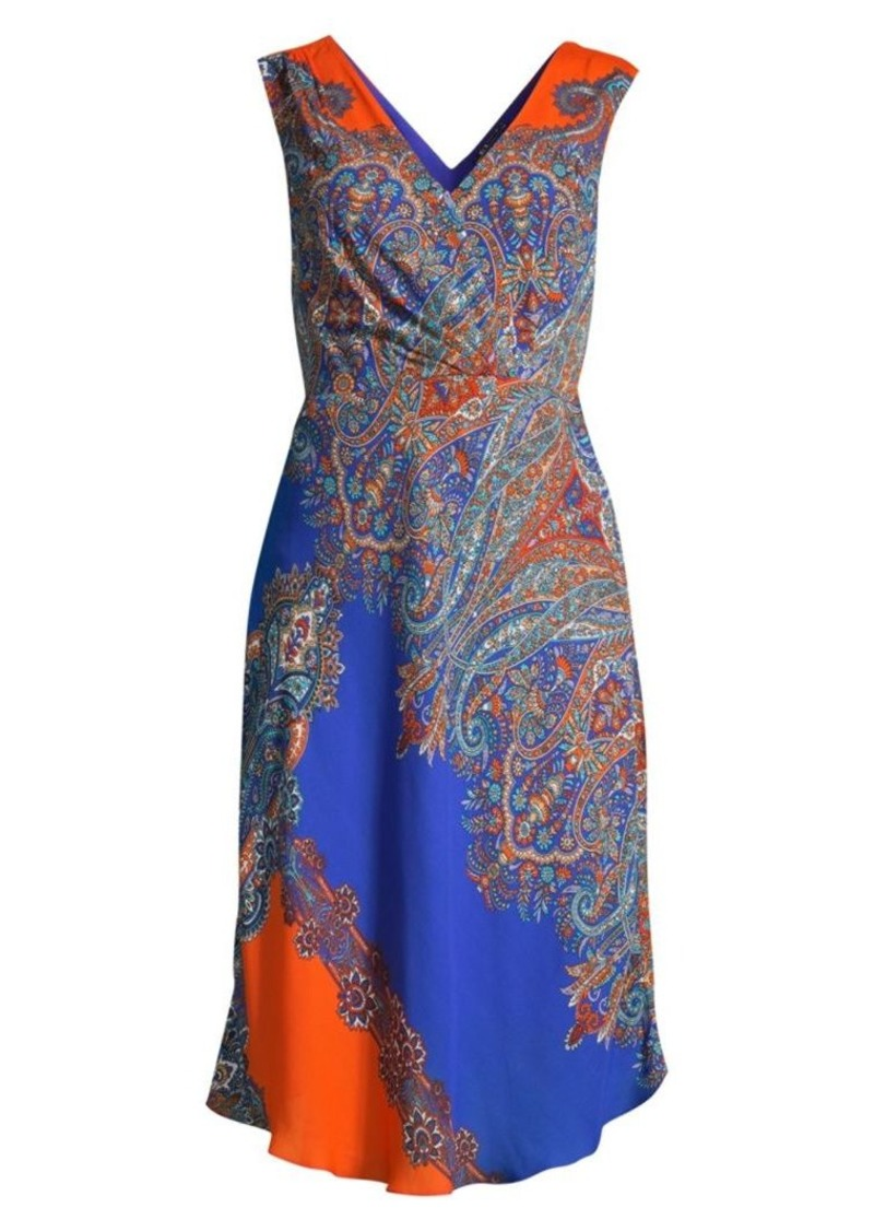 Elie Tahari Agatha Paisley Print Shift Dress