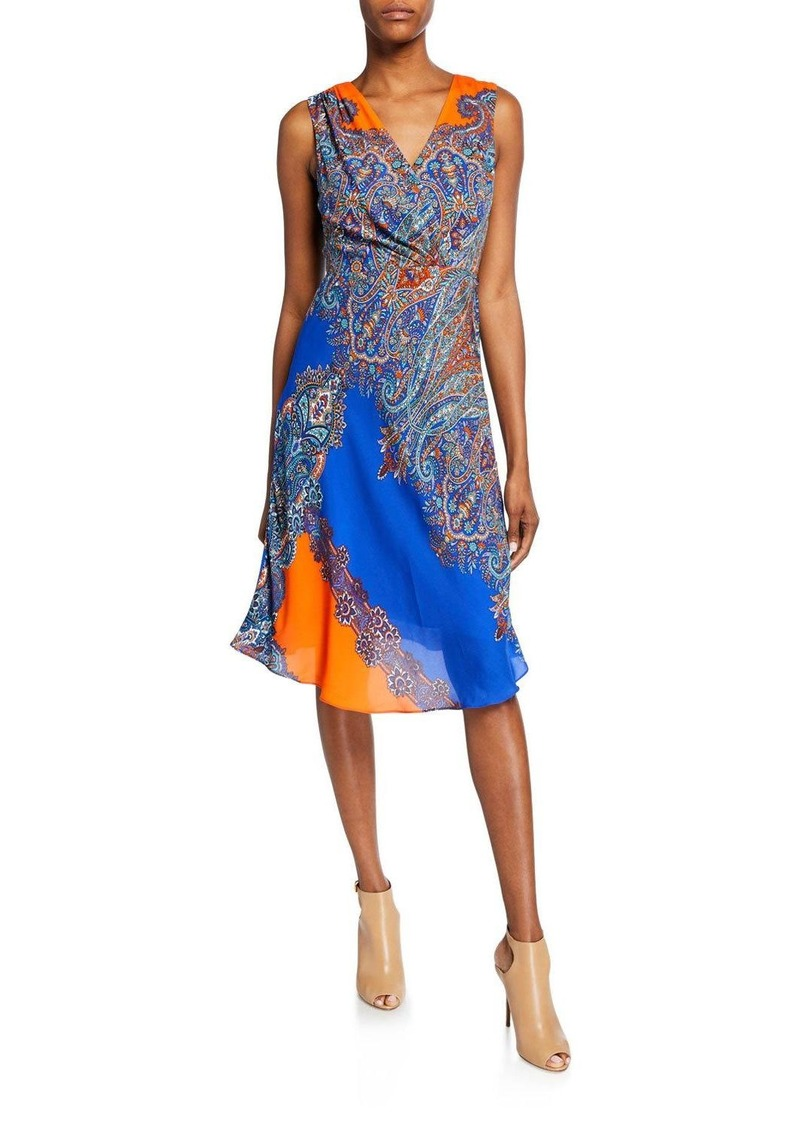 Elie Tahari Agatha Paisley Sleeveless Dress