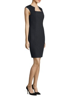 Elie Tahari Aiden Cap Sleeve Sheath Dress