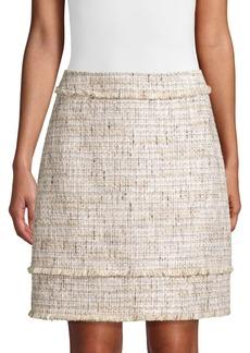 Elie Tahari Alana Metallic Tweed Skirt