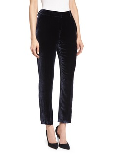Elie Tahari Alanis High-Sheen Cropped Pants