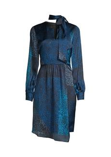 Elie Tahari Alara Leopard-Print Patchwork Dress