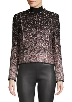 Elie Tahari Alianna Ombre Tweed Jacket