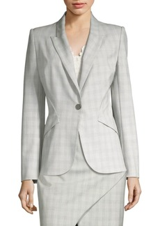 Elie Tahari Allegra Button-Front Jacket