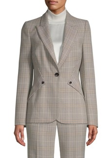 Elie Tahari Allegra Glen Plaid Blazer
