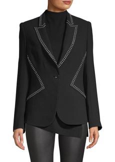 Elie Tahari Allegria Crepe Studded Blazer