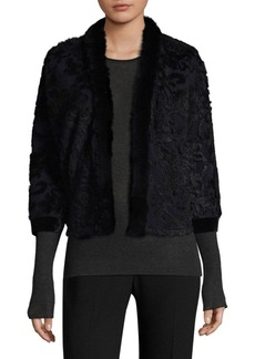 Elie Tahari Allister Rabbit Fur-Trimmed Jacket