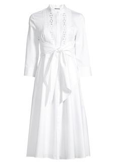 Elie Tahari Ann Tie Poplin Dress