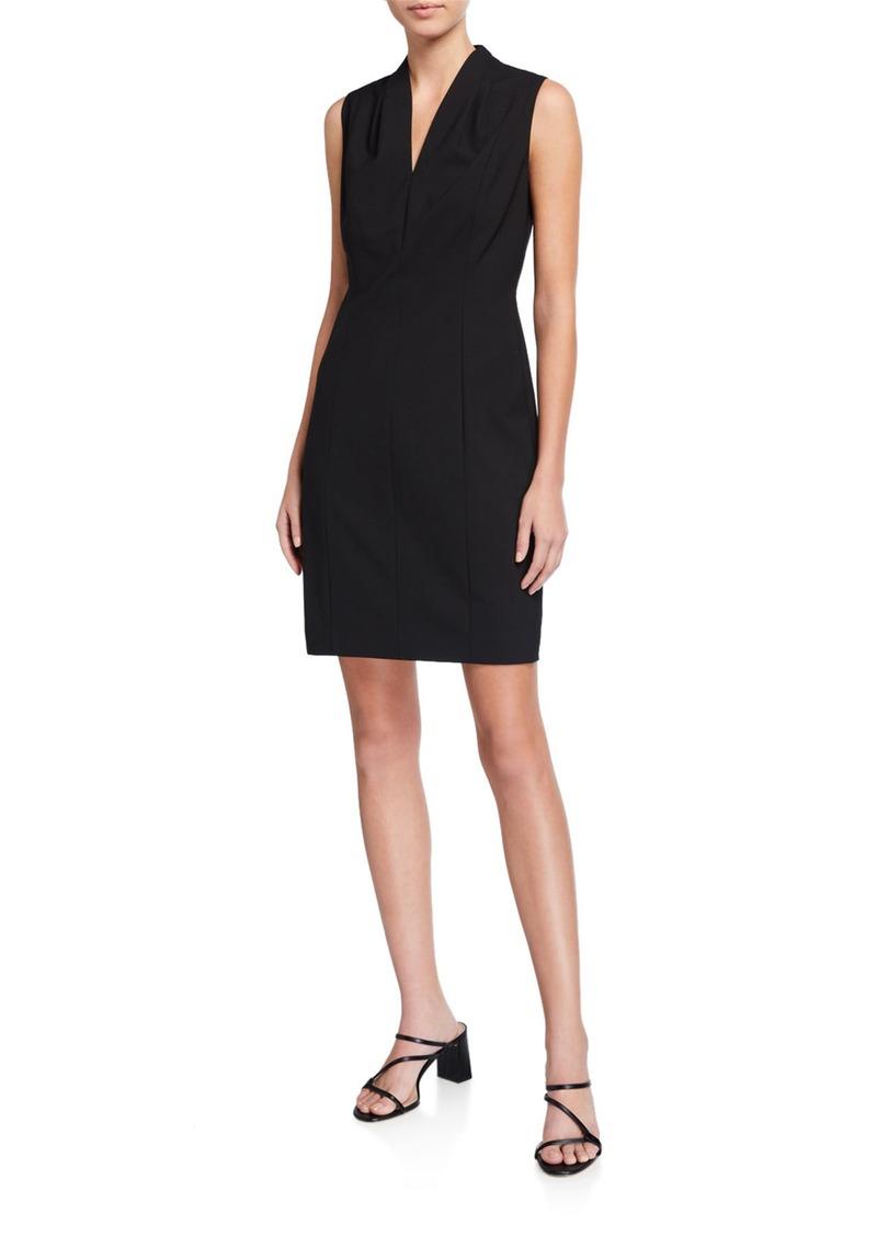 Elie Tahari Annabel Sleeveless V-Neck Shift Dress