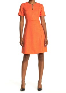 Elie Tahari Ariel Keyhole Fit & Flare Dress