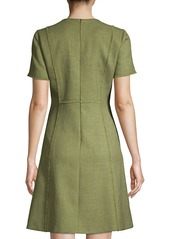Elie Tahari Ariel Tweed A-Line Dress