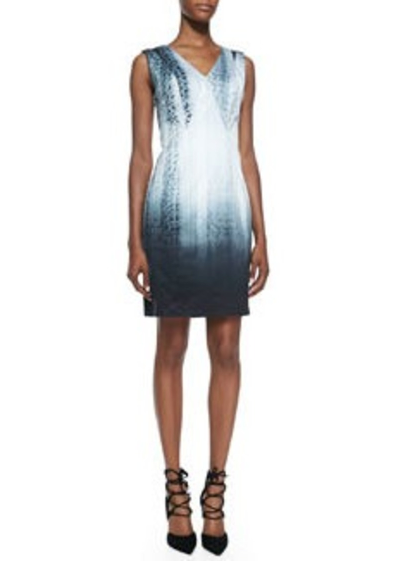Elie Tahari Arvis Sleeveless Python-Print Dress   Arvis Sleeveless Python-Print Dress