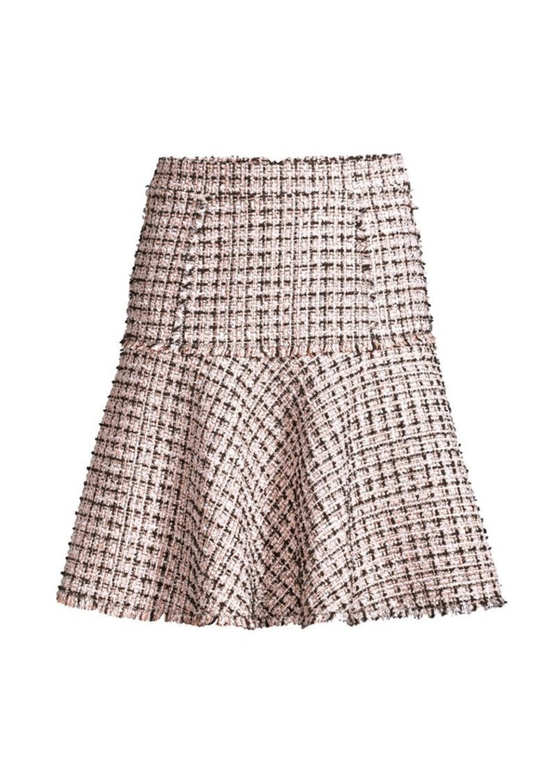 Elie Tahari Astrid Tweed Trumpet Skirt