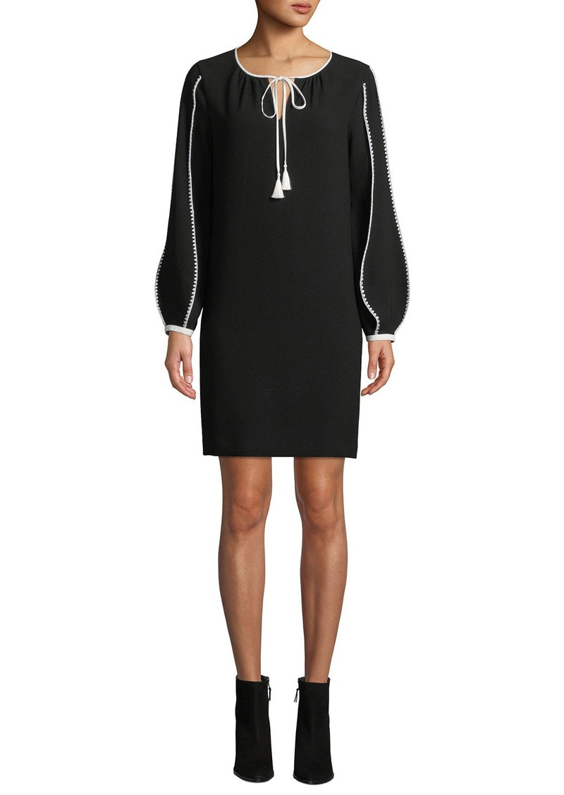 Elie Tahari Attina Contrast-Trim Shift Dress