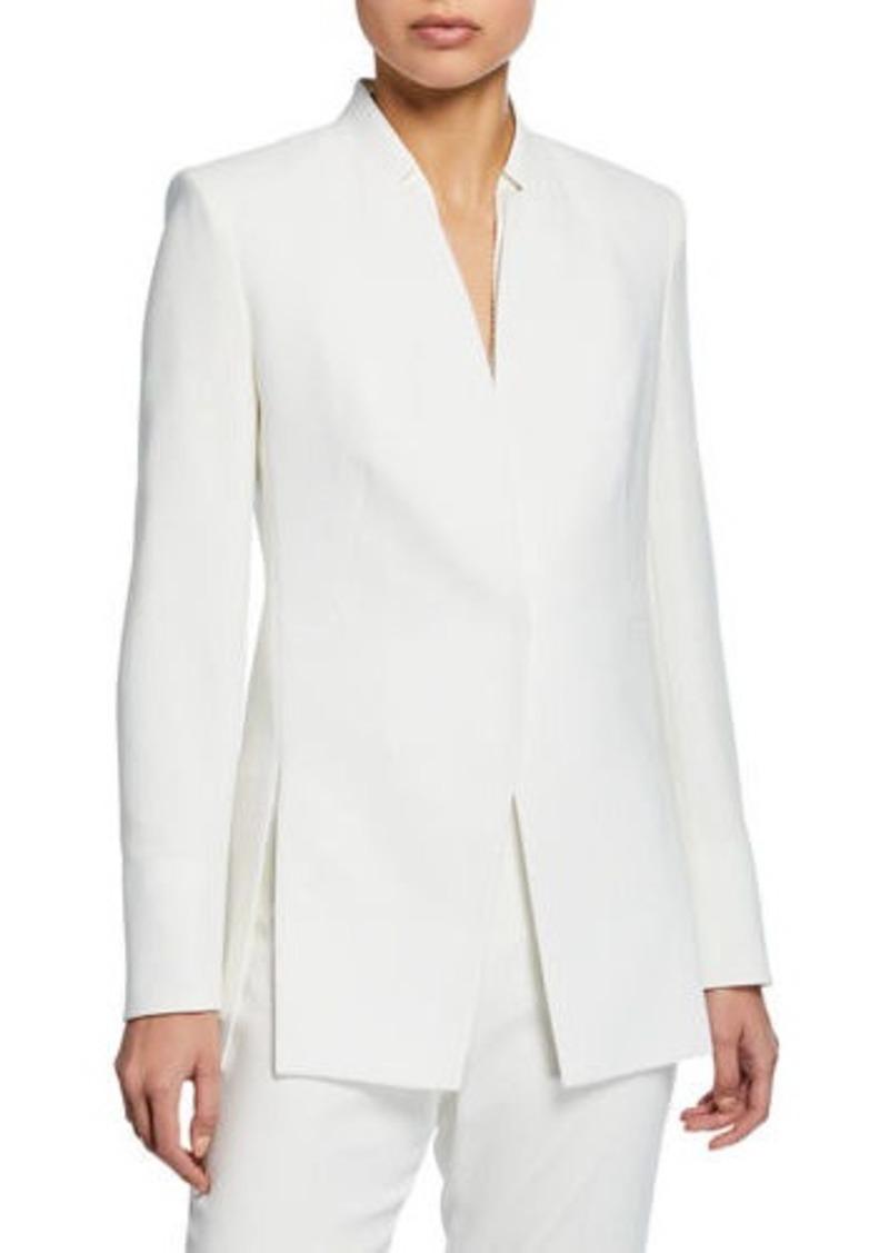 Elie Tahari Ava One-Snap Slit Blazer Jacket