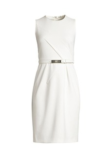 Elie Tahari Azra Belted Sheath Dress